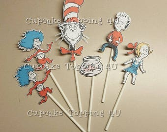 Cat in the hat cupcake Topping