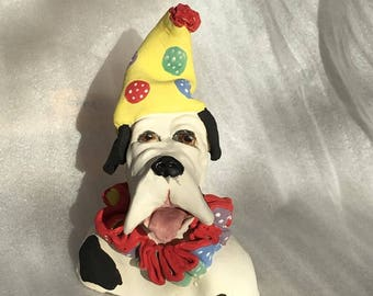 Here's Charlie a stoneware ceramic handmade cute whimsical dog by Jacquie Cross