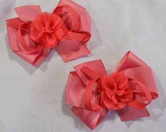 Red Baby Bow Pair
