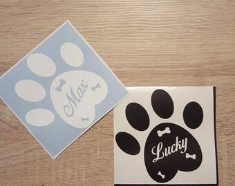 Bumper sticker - dog paw