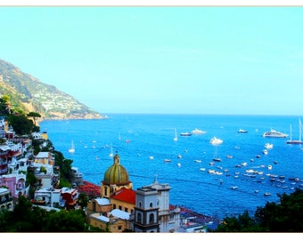 Positano 2: table travel photography large format - perfect for decorating your home or give as a gift!