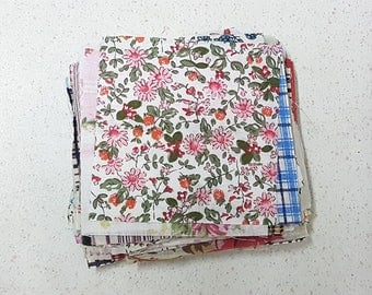 115pcs 10x10cm Square Flowers Pattern Fabric Appliques