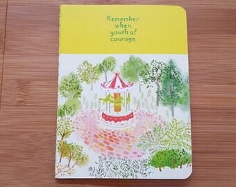 Yellow Park Small A6 Notebook Journal