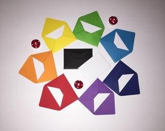 Mini Rainbow Envelopes, Mini Envelopes, Mini Handmade Envelopes, Mini Notecards, Mini Letters, Tooth Fairy Letter, Fairy Door Letter.