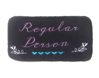 Regular Person Iron-on Embroidered Patch
