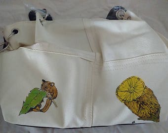 Hand painted possum handbag
