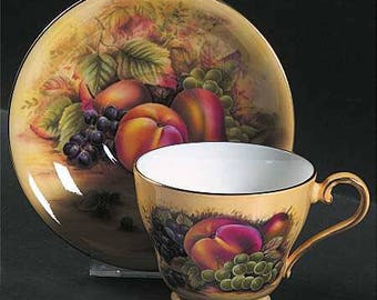 Stunning Aynsley Fruit Cup and Saucer