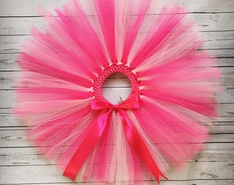 Tutu Skirt, Baby Girl Tutu, Birthday Tutu, Pink Tutu Skirt