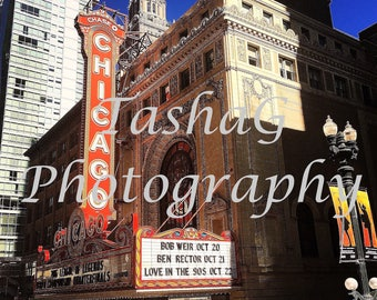 Chicago Theater Photography Canvas