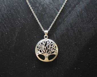 Silver tree of life pendant.