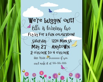 Buggin' Out Birthday Party Invitation