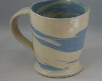 Blue and White Agateware 14oz Mug
