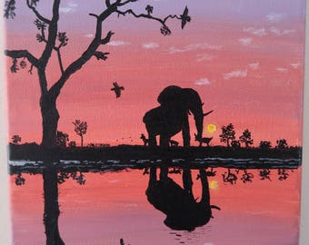 African Sky Reflection
