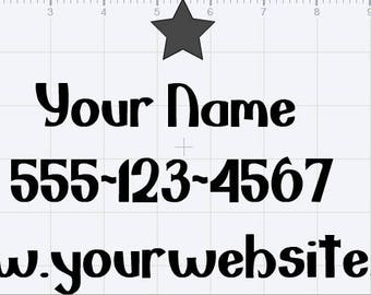 """Personalized Website Decal 11"""" by 6"""""""