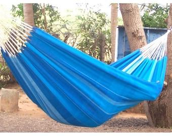 Handmade hammock double blue