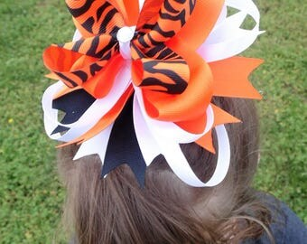 Tiger Prowl Boutique Bow- Hand Made, Hand Sewn