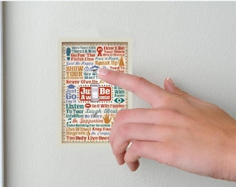 Inspirational quotes- Lightswitch Cover