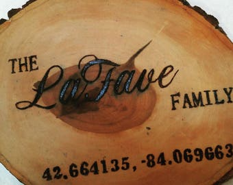 Family Name Latitude and longitude coordinates