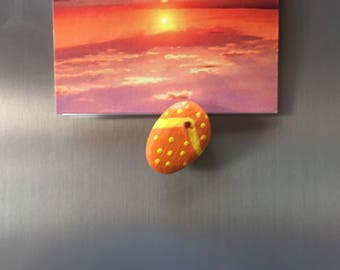 Beach Sandal Stone Magnet