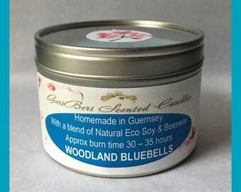 Woodland Bluebells Large Soy Candle Tin