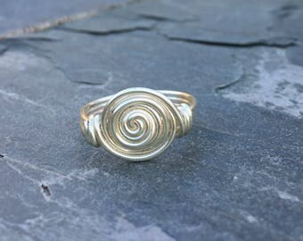 Silver Wire Rosette Ring