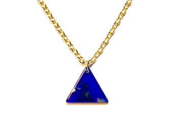 Triangle necklace | Geometric minimalist