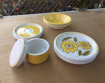 Mikasa  Light N Lively Happy collection. Retro Vintage Stoneware LOVE!
