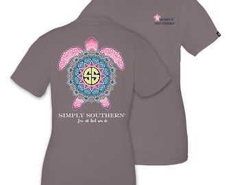 Simply Southern Grey Tee Shirt Boho Turtle Love All That You Do Short Sleeve T-Shirt