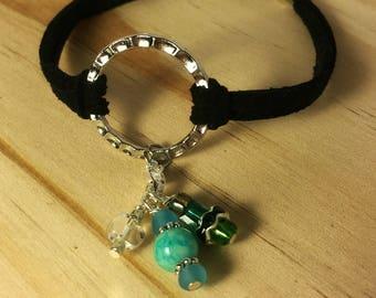 CharmRing Interchangeable Charm Bracelet Beaded Charms - Blue & Green Charm Set - Seaside Bliss Charm Set