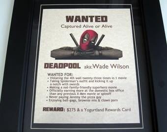 Deadpool - Wade Wilson - Wanted Poster