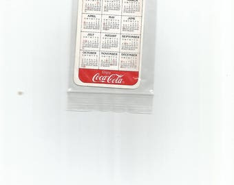 1988 Coke Pocket Calendar N O S