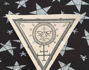 Solar Seal Handmade Printed Canvas Patch