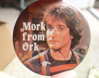 vintage Mork & Mindy button