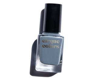 Cirque Colors Nail Lacquer, Medium Gray-Blue Creme, Concrete Nail Polish
