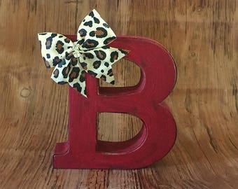 Rustic metal letter B, Letter B, initial B, Metal letter B, rustic decor, rustic letters, rustic metal letters, rustic red decor, red decor