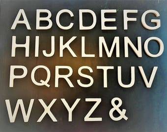 """Wood Letters 2""""-5"""" Cutout Arial Font Name Custom Unfinished Wood Paintable MDF Shape Multiple Sizes (50 Pack)"""