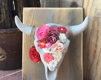 ceramic bull skull