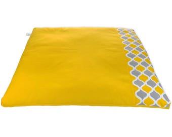 Organic | Zabuton | Meditation mat | Recycled cotton | basaho Yellow Mat