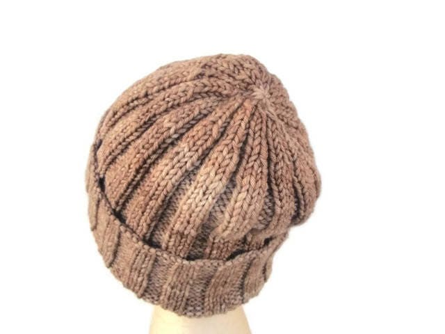 Ribbed Beanie Knitting Pattern, Knit Hat Pattern, Quick Easy Pattern, Malabri...