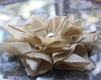 Beige fabric flower