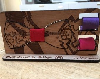 "Wooden bow tie ""Illustrations by Ale Uggeri 10"""