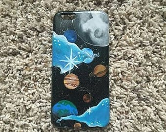 """Custom Painted Phone Case: """"A View From Space"""""""