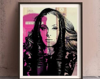 Adele Print or Canvas, Wall Art, Artwork, Gift