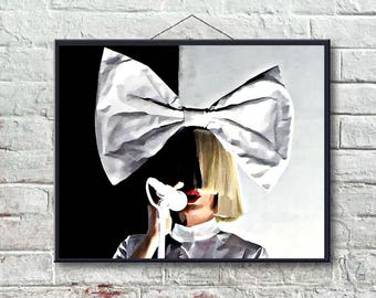 Sia Art Print or Canvas, Wall Art, Artwork, Gift