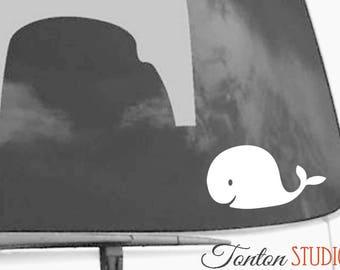 Whale Car Decal - Whale Car Sticker - Whale Vinyl Decal - G016