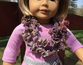 Ruffled Infinity Scarf for 18 inch Dolls