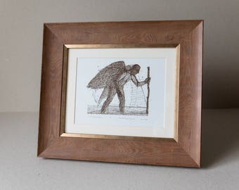 "Serigraphy print ""Traveler"". Framed"