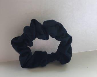 Navy Hair Scrunchie