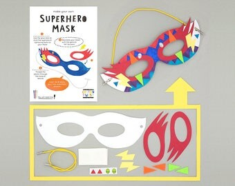 Make Your Own Superhero Mask Kits - Perfect for Party Bags