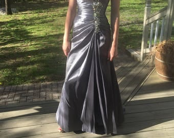 Gunmetal Formal Gown